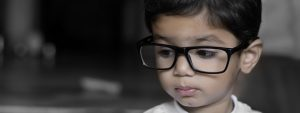 Young Child Big Glasses, Vision Therapy